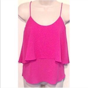 🔷BOGO🔷🆕 Anthropologie tiered pink tank top xs